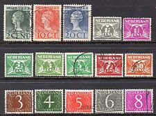 Netherlands: Mixture of-15-1923-1926-29 & 1953-57 Used Issues (Reduced Postage)