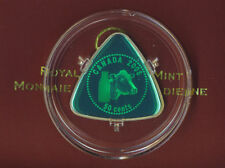 2008 Sterling Silver Triangle Coin - Canada Milk Delivery 50 Cents