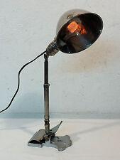 ANTIK KLEMM-LAMPE BAUHAUS D.R.PATENT INDUSTRIE-LAMPE MESSING UM 1930