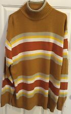 Vintage 1970's Look men's  DUDE CA acrylic crazy hippie hipster knit sweater XXL