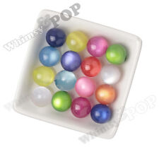 20mm 12pcs MIXED Cat's Eye Beads Chunky Acrylic Round Gumball Bubble Gum Bead