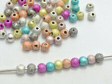 Lot 80 PERLE STARDUST 4mm Mixte Creation Bijoux, Collier Multicolore 4 mm