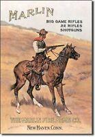 Marlin Firearms Rifles Shotguns Guns Ammo Cowboy Wall Art Decor Metal Tin Sign
