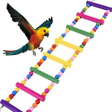 Bird Climbing Ladder Toys Wooden Parrot Standing Bridge Swings Cage Accessories