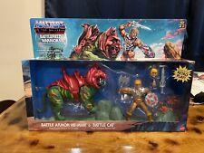 MOTU Origins Battlefield Warriors Battle Armor HE-MAN & BATTLE CAT *in hand*