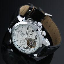 Herren Uhr Armbanduhr Watch Uhr Automatik Mechanisch Skelett Silber Schwarz