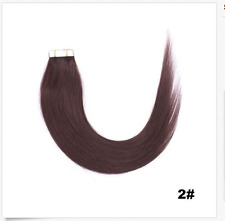 """Newly 16""""- 26"""" PU Tape In remy straight 100% human hair extensions 20/40/60pcs"""