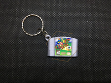 Super Mario 64 3D CARTRIDGE KEYCHAIN Nintendo 64 N64 collectible
