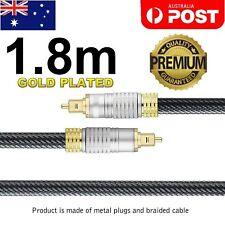 Ultra Premium Toslink Optical Fibre Cable Gold Plated 5.1 7.1 7.2 Digital Audio