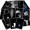 50 Space Mond Moon Stickerbomb Aufkleber Sticker Mix Decals space Black White r