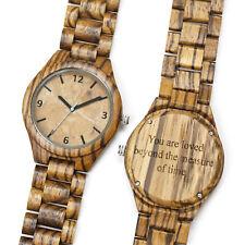 Custom Wood Watch Engraved Personalized Wooden Watch Anniversary Groomsmen Gift