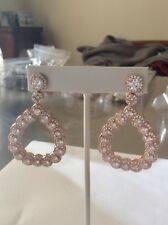 Joan Boyce White Crystal Earrings