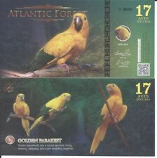 ATLANTIC FOREST BILLETE 17 AVES DOLLARS 2016 SPECIMEN