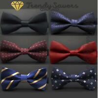 Men Classic Wedding/Formal Adjustable Satin Striped Bow Tie Neckties 20 Styles