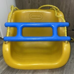 Vintage 1983 Little Tikes Toddler Yellow Outdoor Swing Blue