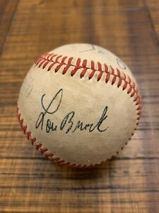 1960s ST. LOUIS CARDINALS MULTI-SIGNED BASEBALL BROCK GIBSON CEPEDA SHANNON +