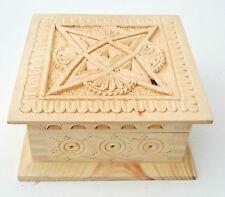 en bois sculpté Boite de rangement pour bijoux, PETIT PRODUITS stockage 14cmwide