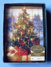 15 VINTAGE HALLMARK CHRISTMAS REAL PICS OF DECORATED TREES GREETING CARDS MINT