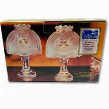 """Crystal Clear Manhattan 2 Parisian 5 3/4"""" Candle Lamps With Votive #315337"""