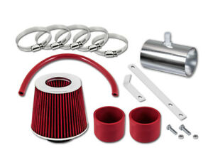 For 07-11 GMC Acadia All Model GSP Red Short Ram Air Intake Kit + Filter