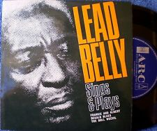 LEADBELLY-SINGS & PLAYS-FRANKIE AND ALBERT;DEKALB BLUES; BOLL WEEVIL-EP 33 RPM