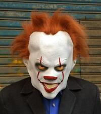 Maschera Pagliaccio Horror carnevale Halloween adulti IT clown film joker rosso