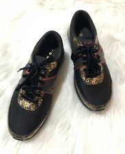 Traq by Alegria  Black Floral Lace-up Comfort Sneakers Shoes Size 37 New