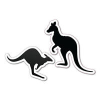 TWO KANGAROO FIGURES EUREKA Sticker Aussie Car Flag 4x4 Funny Ute #5606EN
