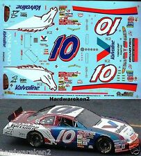 NASCAR DECAL #10 FAN SCHEME VALVOLINE 2001 PONTIAC JOHNNY BENSON  SLIXX