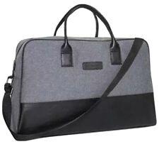 John Varvatos Men's Gray Duffle Bag Gym Travel Overnight Handbag Sz 18 X 12 NEW