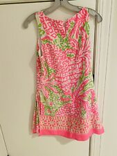 Lilly Pulitzer Donna Romper 2 Pink Sunset Homeslice Engineered Pineapple