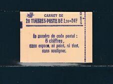 France carnet  de 20 timbres 2101 c1a mate Sabine  1f20 vert   conf 8  neuf