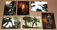 Resident Evil 5 promo Card Postcard Set 6 x Postcards Capcom