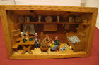 Hand Carved Wooden Folk Art Country Home Kitchen Diorama Shadow Box 14