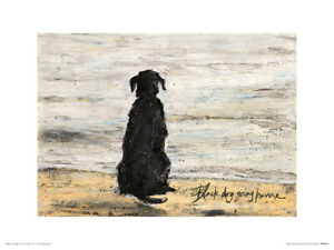 Sam Toft Black Dog Going Home Art Print 30 x 40 cm Officially Licensed