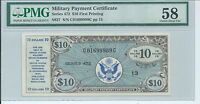MPC Series 472 Military Payment Certificate $10 First Printing PMG 58 Choice AU