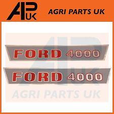 Ford 4000 Tractor Hood Bonnet Decal Sticker Set Kit Emblema de transferencia de 1965 - 1968