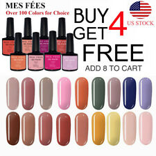 MES FEES UV LED Nail Gel Polish Shiny Glitter Nails Soak Off Manicure Salon Art