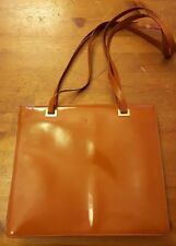 Authentic, Trussardi, Camel Brown, Leather, Tote Handbag