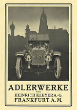 Adlerwerke Frankfurt am Main Heinrich Kleyer Plakat Braunbeck Motor A2 535