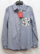 d0f9476ab8 THAKOON DESIGN NATION Size S Blue Striped Floral Pocket Button Down Shirt