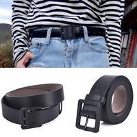 Fashion Women Casual Leather Slim Waist Belt Leather Waistband Pin Buckle BlacQA