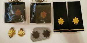Shoulder US Army Major Rank Epaulets Slide-on Rank pin Gold black & cloth