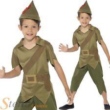 Boys Robin Hood Costume Medieval Archer Child Book Week Fancy Dress Kids Outfit