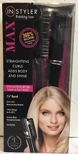 "IN STYLER Rotating Iron 1 1/4"" Barrel Straightens & Curls 4-Heat Settings"