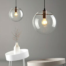 Modern Large Glass Globe Pendant Light Fixture Hanging Pendant Lighting Shade