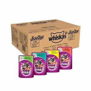Whiskas Junior 2-12 Monate Katzenfutter Nassfutter in Sauce Vitamin C 84 x 100 g