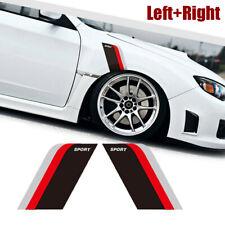 1x Left+Right Sport Sticker Car Side Door Fender Racing Decal Sticker Accessoy