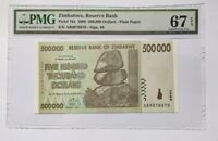Zimbabwe PMG Gem UNC 67 EPQ 500000 dollars