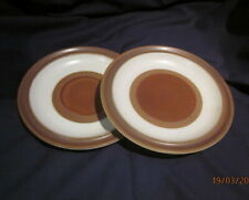 DENBY POTTERS WHEEL 2 X  SALAD DESSERT PLATES RUST 20½CM  GOOD CONDITION